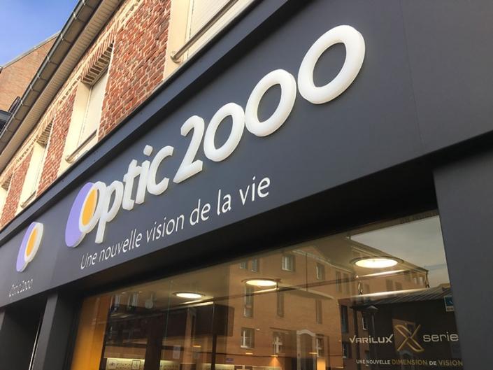 Enseigne Alu et PMMA pour Optic 2000