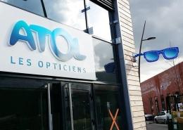 enseigne Atol opticien