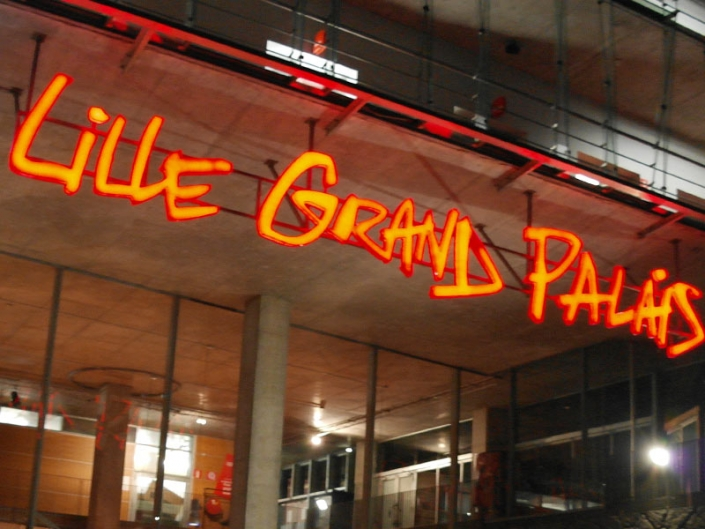 Lettres lumineuses Lille Grand Palais